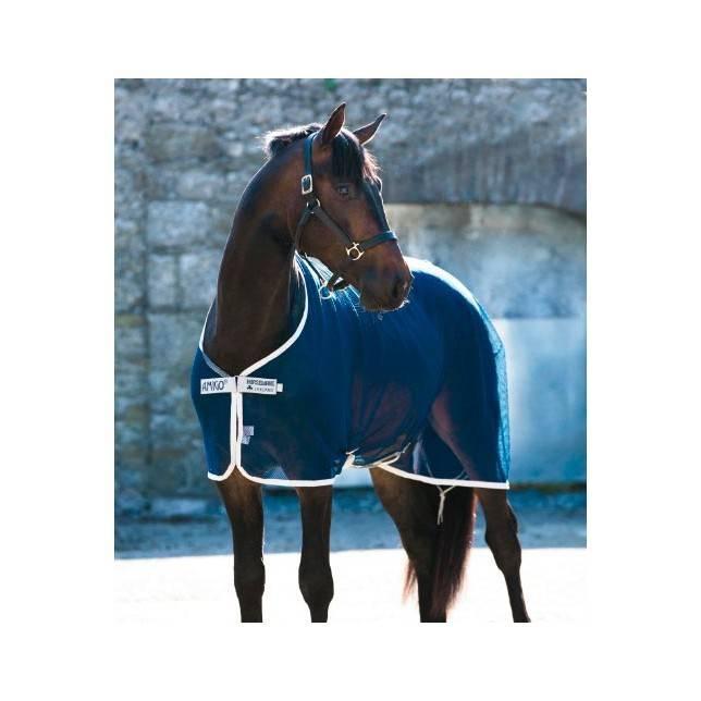 Manta para caballo Amigo Red Net cooler en azul plata