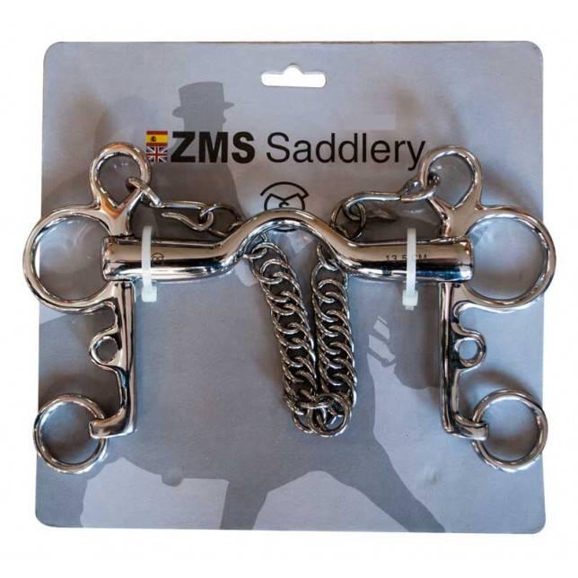 Bocado para caballo pelham con puente ZMS Saddlery