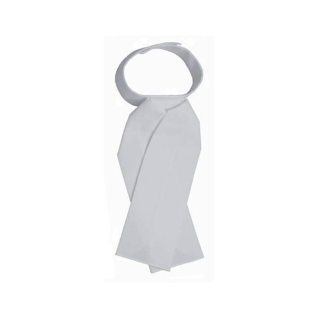 Plastrón blanco para jinete o amazona de concurso