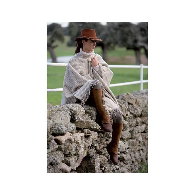 poncho lana, poncho montar, poncho jinete