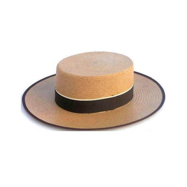 Sombrero panama en color camel de Artesania Pons