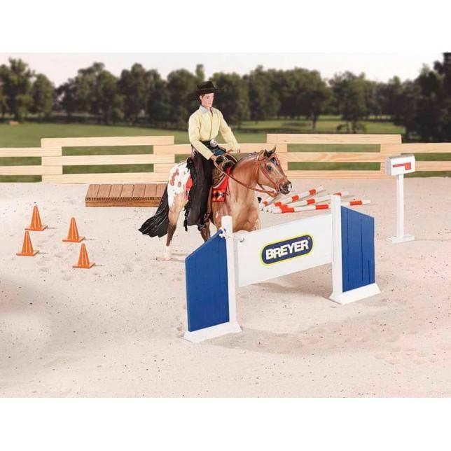obstaculo breyer, juguete caballo, juguete hipica, niño caballo