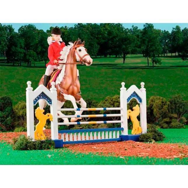 obstaculo breyer, juguete caballo, juguete hipica, niña hipica