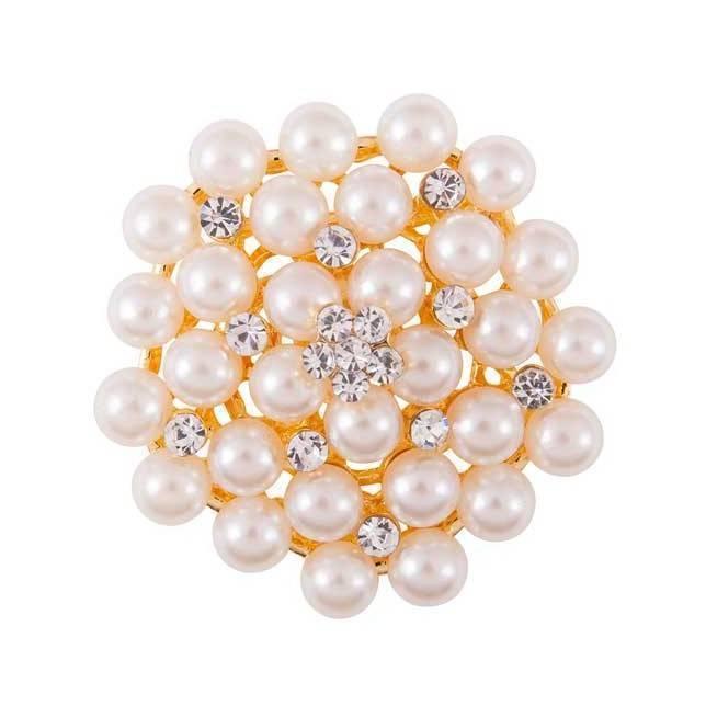 Aguaja para plastron de concurso BR Bella con perlas