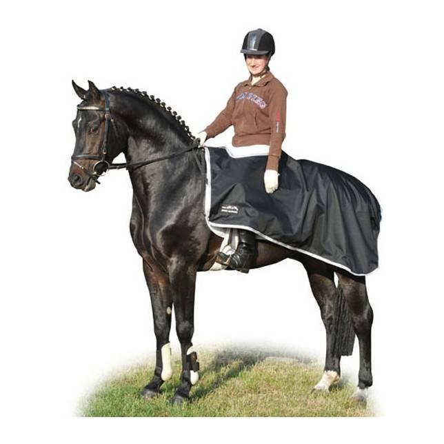 Manta impermeable para caballo HKM negro