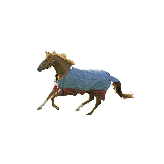 manta caballo exterior Professional hkm gris rojo oscuro