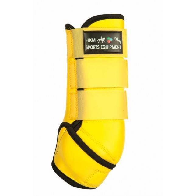 protectore de caballo neopreno Hkm Colour amarillo negro