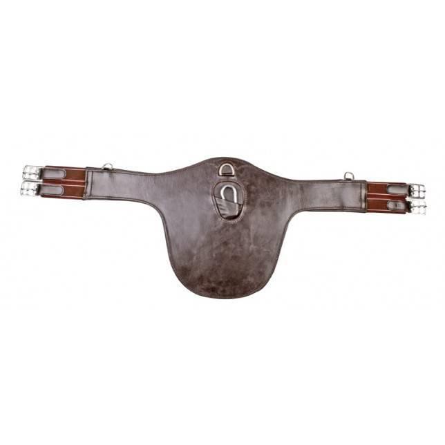 Cincha de salto para caballo HKM marrón