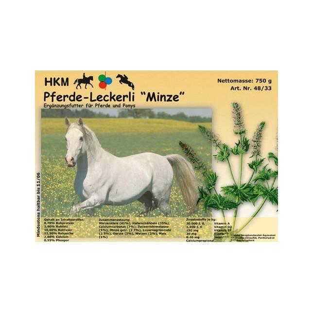 Golosina para caballos de menta HKM