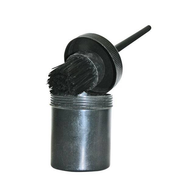Brocha negra para cascos de caballo HKM de 20 cm