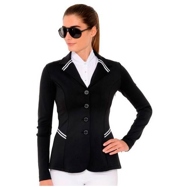 Chaqueta de concurso Spooks New Stripe negra de mujer