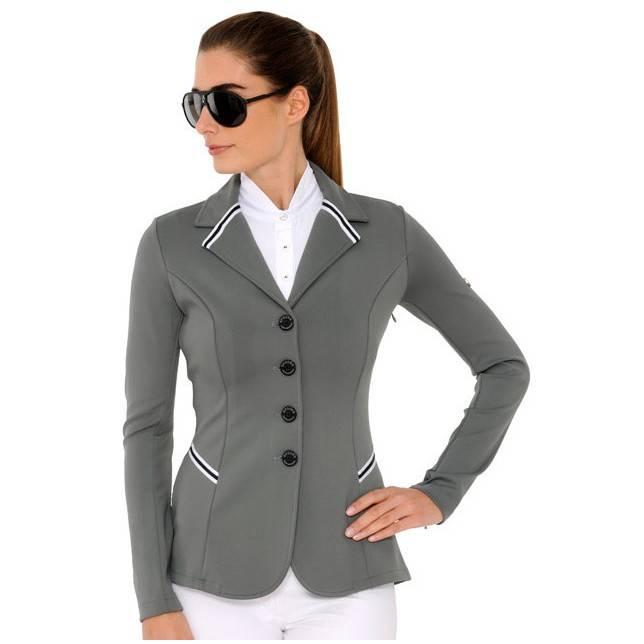Chaqueta de concurso Spooks New Stripe gris de mujer