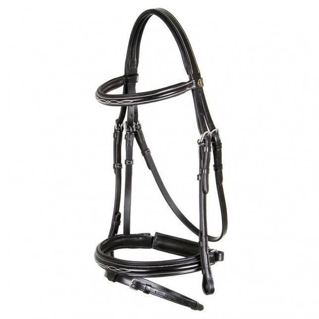 Cabezada para caballo de la marca BR Hadleigh kombi negra
