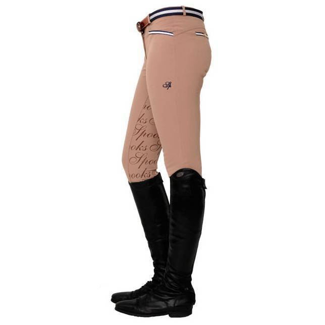 Pantalones de montar de mujer Ricarda full grip pearls beige