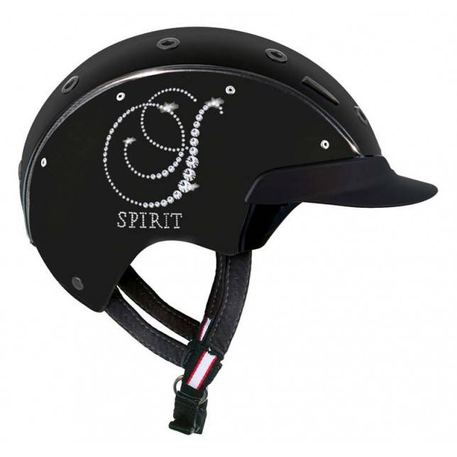 Casco Cas Co Spirit 6 Crystal para jinete en negro