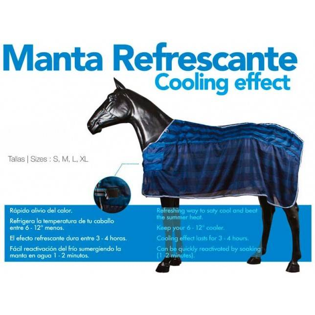 Manta para caballo refrescante cooling effect