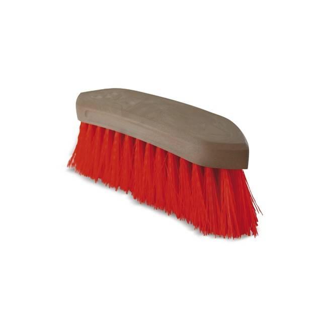 Cepillo rojo cerda larga gruesa para caballo