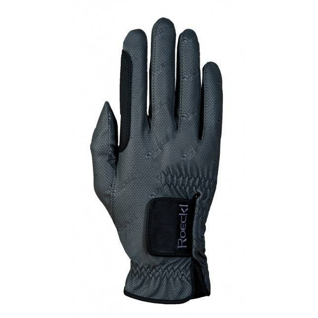 guante roeckl 3301-248 gris oscuro