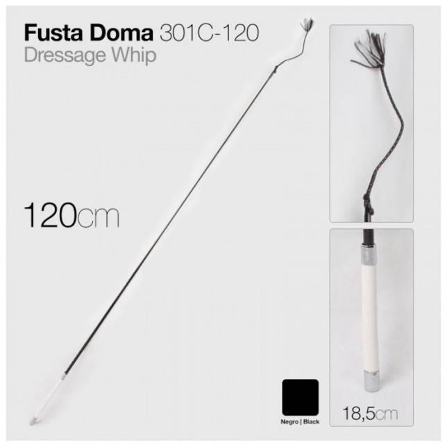 FUSTA DOMA 301C-120 NEGRO 120cm ZALDI