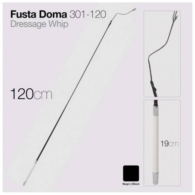 FUSTA DOMA 301-120 NEGRO 120cm Zaldi