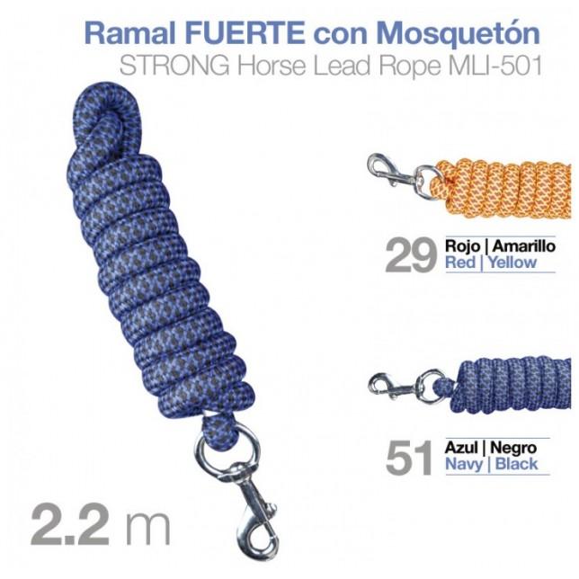 RAMAL FUERTE CON MOSQUETÓN MLI-501 2.20m ZALDI