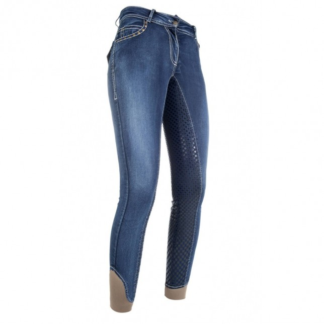 Pantalones de montar -Pasadena- Denim full silicona