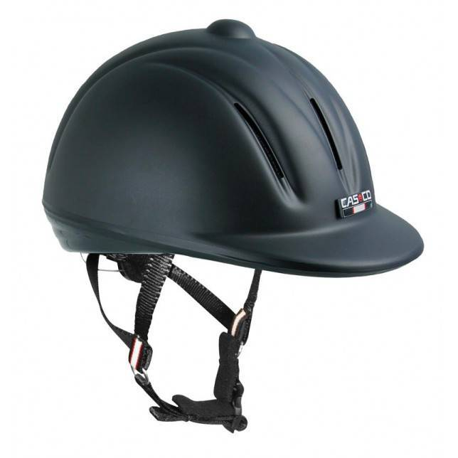 Casco de montar para jinete Cas co Youngster negro mate