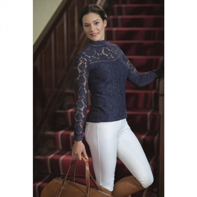 Camisa de concurso -Lace- manga larga