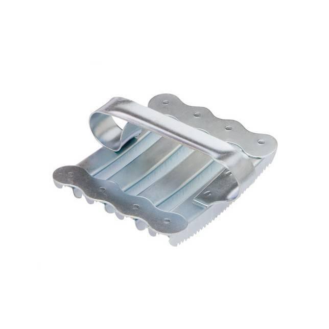 Almohaza HH metálica galvanizada cuadrada asa metálica