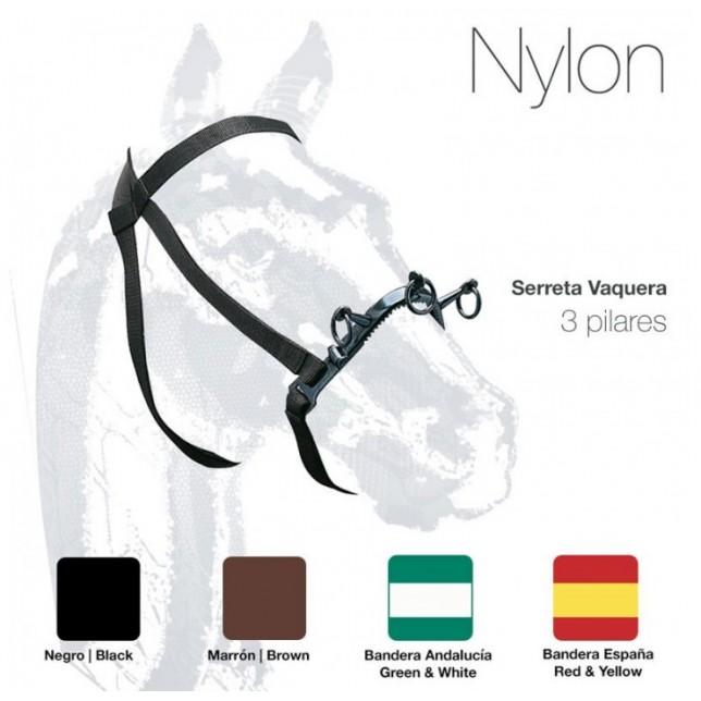 CABEZADA SERRETA VAQUERA 3-pilares NYLON