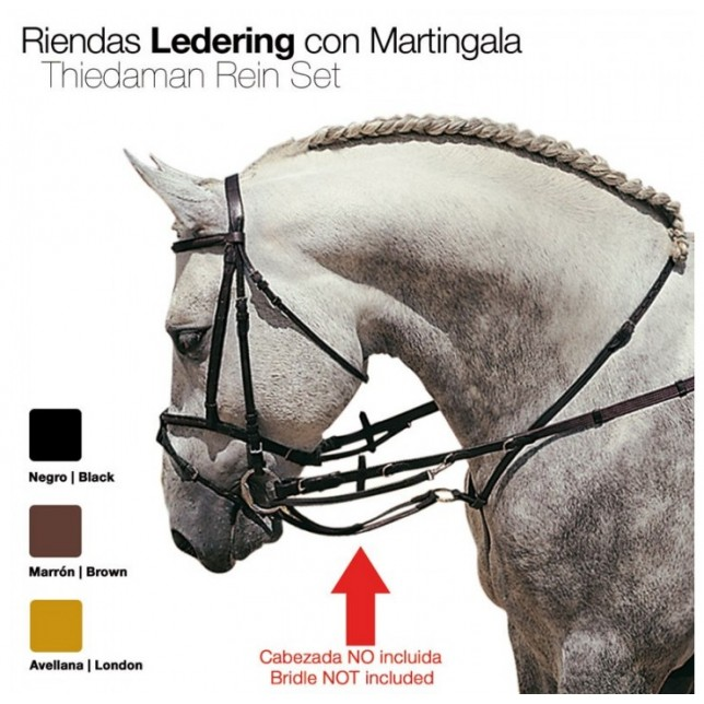 RIENDAS LEDERING CON MARTINGALA