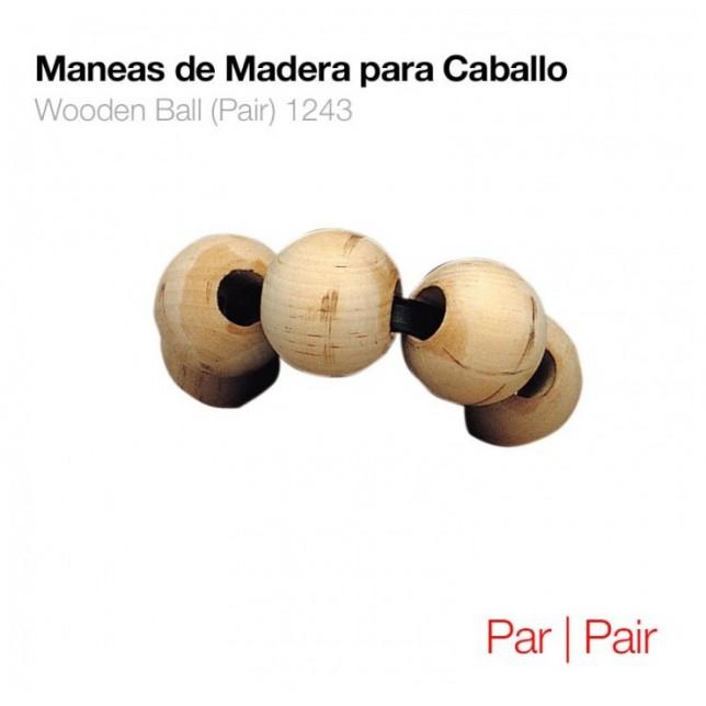 MANEAS DE MADERA PARA CABALLO PAR