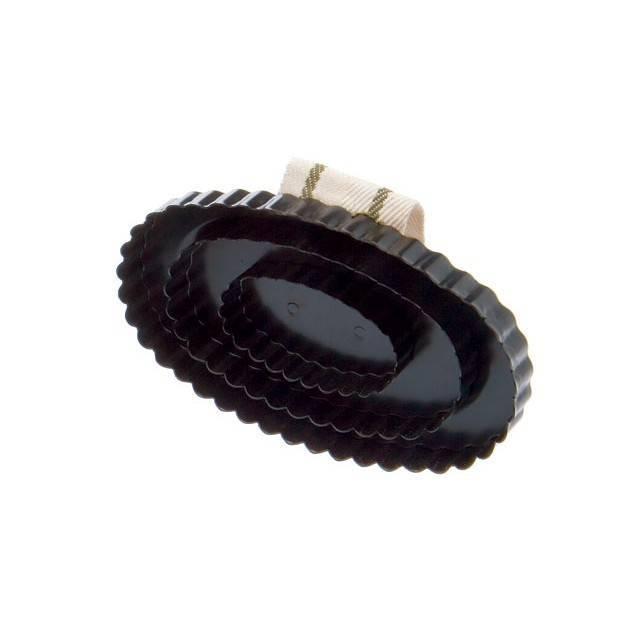 Almohaza HH metálica ovalada en negro