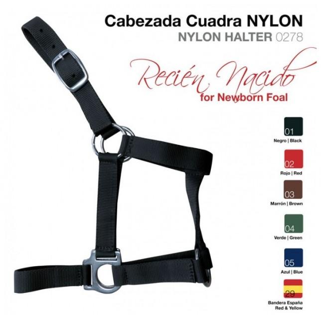 CABEZADA CUADRA NYLON RECIEN NACIDO