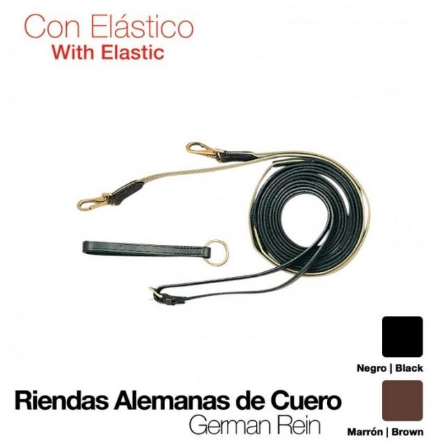 RIENDAS ALEMANAS CUERO Y ELASTICO