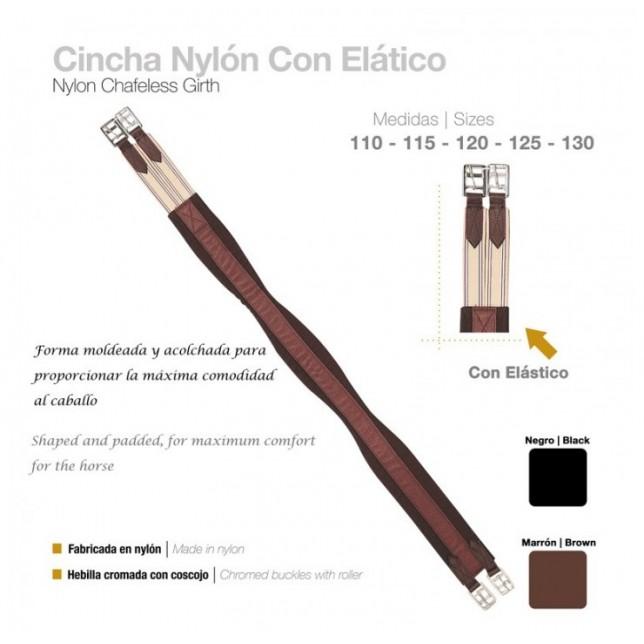 CINCHA NYLON CON ELÁSTICO ZALDI