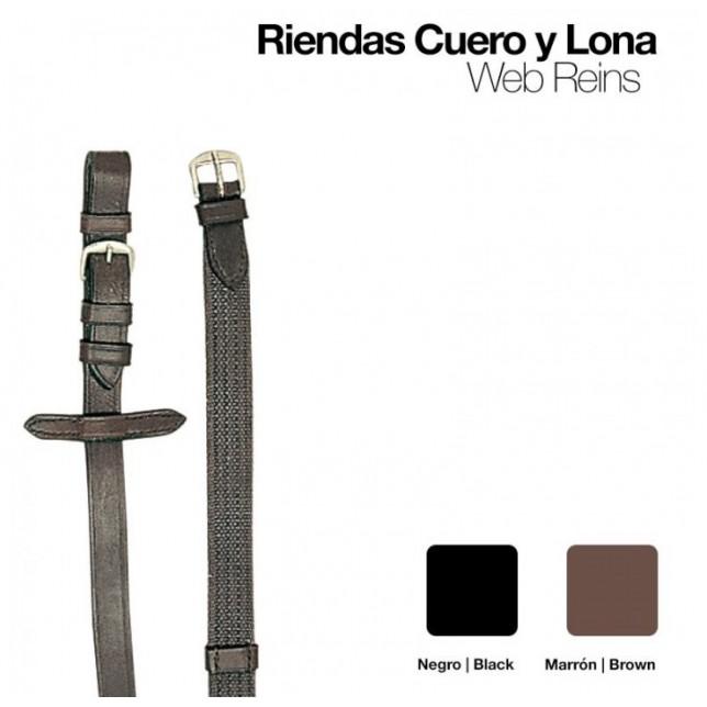 RIENDAS CUERO Y LONA