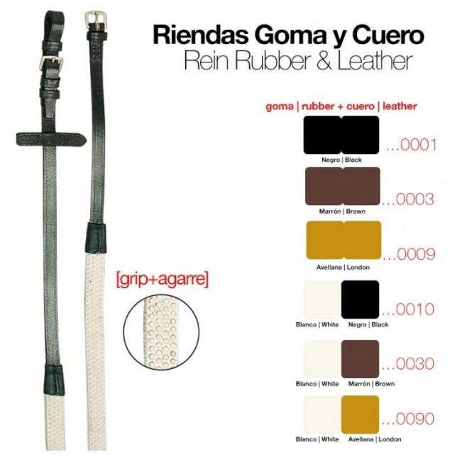 RIENDAS DE GOMA Y CUERO