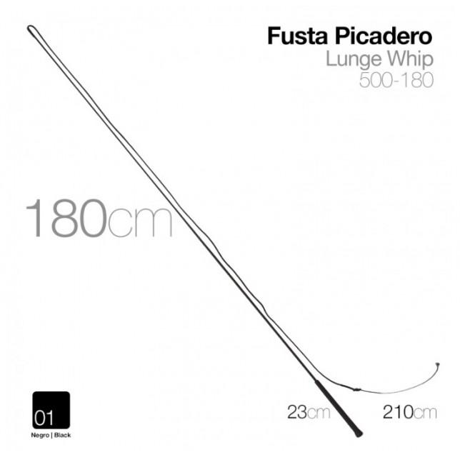 FUSTA PICADERO 500-180 NEGRO 180cm