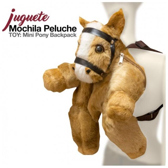 MOPCHILA PELUCHE CABALLO