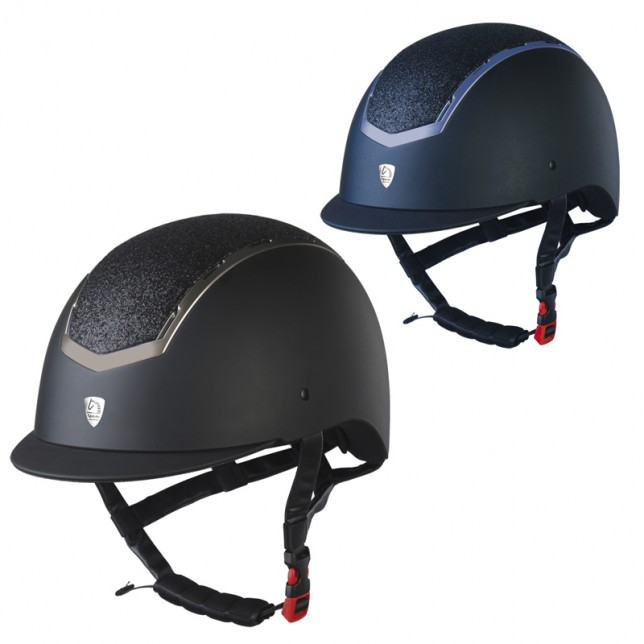 Casco Tattini mate con inserciones brillantes
