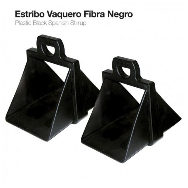ESTRIBO VAQUERO FIBRA NEGRO