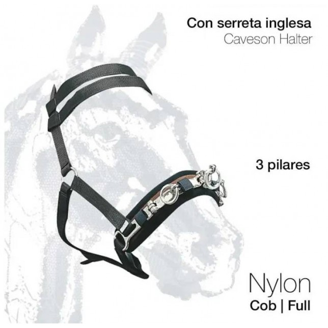 CABEZADA SERRETA INGLESA NYLON