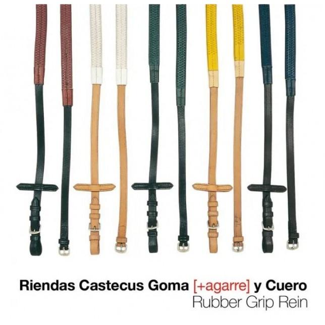RIENDAS CASTECUS GOMA Y CUERO