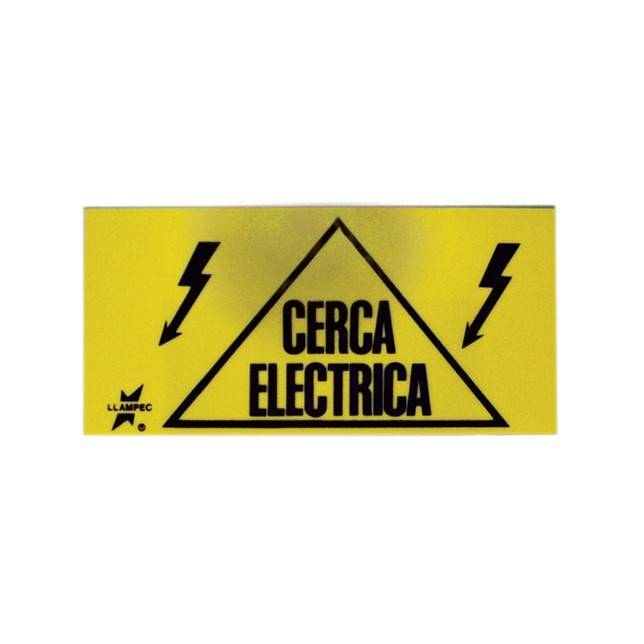 letrero cerca electrica